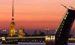 Ночной Петербург, разведение мостов на автобусе