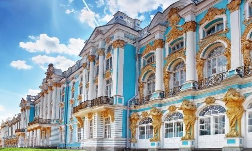 Пушкин, Екатерининский дворец, Янтарная комната на автобусе
